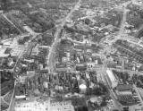 Aerial view of Newcastle-under-Lyme town centre