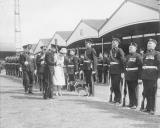 Inspection by the Queen of members of the Staffordshire Regiment
