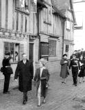 Warwick.  Lord Leycester Hospital. Visit of Queen Mother