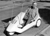 Rugby.  Sinclair C5 car