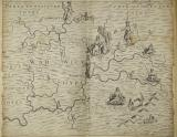 Michael Drayton, Polyolbion, 1613 - Map of Warwickshire, plate between p. 212 & p. 213.