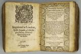 Church of England, Booke of Common Prayer, 1596 - Colophon (printer's imprint), title page of Psalms.