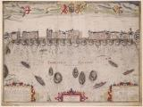 John Norden, The View of London Bridge from east to west, [1597]