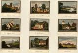 Nine Colour Prints of Leamington Spa