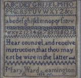 Sampler by Mary Ward