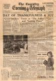 Newspaper Featuring V E Day Celebrations 1945