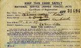 National Service Registration Card