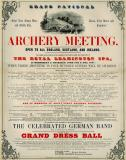 Grand National Archery Meeting Poster, Leamington Spa