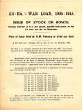 First World War, War Loan Leaflet